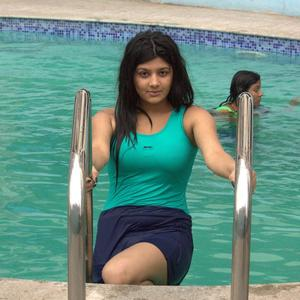 Shona Chabra Sexy Look Near Swimming Pool Still From Parking Movie