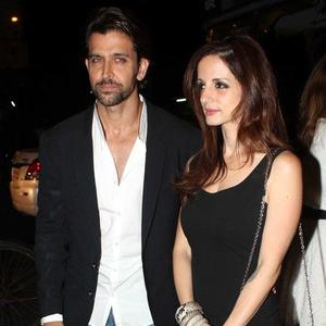 Hrithik With Wife Suzanne At Farah Khan Ali Store Launch Party