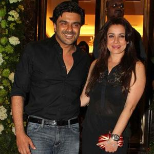 Samir With Wife Neelam Clicked At Farah Khan Ali Store Launch Party