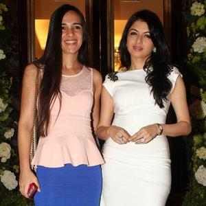 Tara Sharma And Bhagyashree Posed For Camera At Farah Khan Ali Store Launch Party