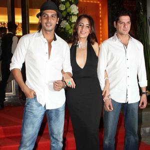 Zayed,Farah Khan Ali And Aqeel Ali Posed At Farah Khan Ali Store Launch Party
