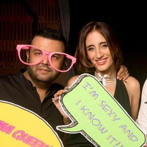 Farah Khan Ali Dazzling Funny Look At Farah Khan Ali Post Launch Party
