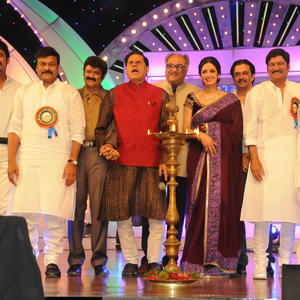 Nagarjuna,Chiranjeevi,T.Subbarami Reddy,Boney,Sridevi,Akkineni Nageswara Rao And K.Raghavendra Rao Graced At TSR-TV9 National Film Awards 2011-2012 Presentation Function