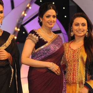 Neha,Sridevi And Rani Posed At TSR-TV9 National Film Awards 2011-2012 Presentation Function