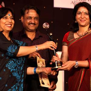 Priya Dutt Smiling Pose At The 4th NBC Awards 2013