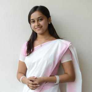 Sri Divya In Saree Beautiful Look At Mallela Theeramlo Sirimallepuvvu Audio Success Meet Event