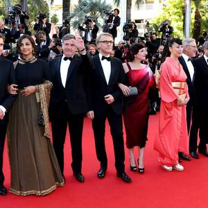 Vidya Balan And Other Jury Members Photo Shoot At The Cannes 2013 Closing Ceremony