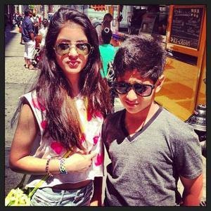 Navya Naveli Nanda Posed With Her Brother Nice Still