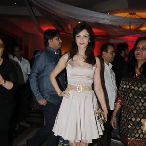 Gorgeous TV Show Host And Actress Saumya Tandon Posed At Rohit Verma Marigold Watches Fashion Show 2013