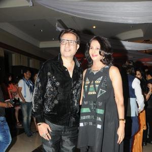 Hotelier Couple Dr.Suhas With Wife Deepa Attend Rohit Verma Marigold Watches Fashion Show 2013