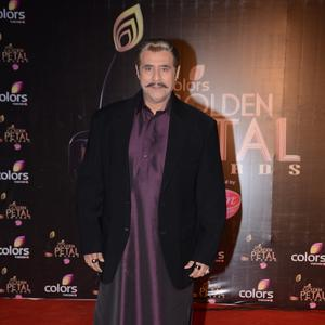 Puneet Issar Nice Look In Red Carpet At Colors TV 3rd Golden Petal Awards 2013