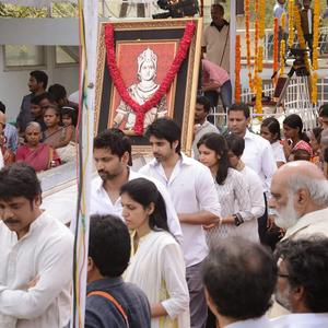 Nagarjuna Akkineni During His Fathers Funeral