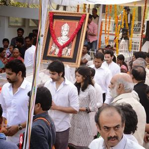 Tollywood Celebs Spotted To Pays Last Respects To ANR