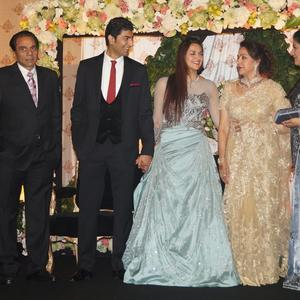 Ahana And Vaibhav Met Guests At Their Wedding Reception Bash