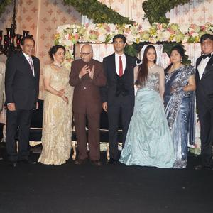 Pranab Mukherjee Attend Ahana And Vaibhav Reception Party