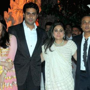 Aishwarya,Abhishek,Tina And Anil Posed At Kokilaben Ambani's Birthday