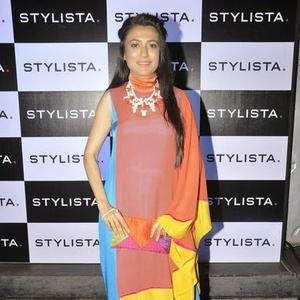 Mini Mathur Strikes A Pose During The Stylista Bash In Honour Of Wendell Rodricks