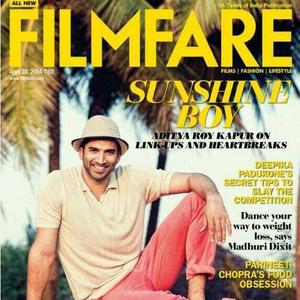 Indian Actor Aditya Roy Kapur Sensational And Smart Killing On Cover Of Filmfare April 2014 Issue