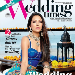 Monica Dogra Stunning Look On The Cover Of Wedding Times April 2014 Issue
