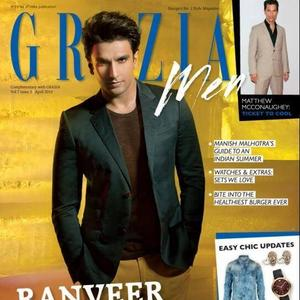 Ranveer Singh Dashing Look On The Cover Of Grazia Men April 2014 Edition