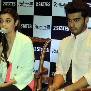 Alia And Arjun Interact With Media During Promoting Their Flick 2 States