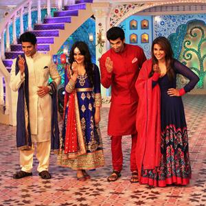 Parineeti,Aditya,Karanvir And Surbhi Shake Their Legs On The Sets Of Daawat-E-Eid Special Show