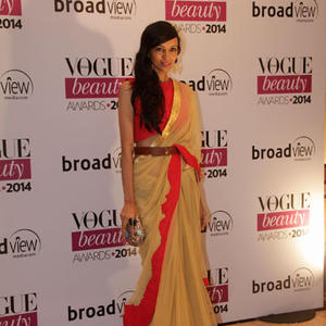 Dipannita Sharma In Saree Traditional Look During Vogue Beauty Awards 2014