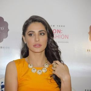 Nargis Fakhri Looks Stunning At The Launch Of Mission Home Fashion By Portico New York