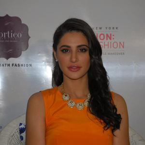 The Rockstar Actress Looked Bright And Beautiful In A Tangy Orange DKNY Tank Maxi And Statement Neckpiece