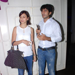 Hiten Tejwani With Wife Gauri Pradhan Snapped During The Special Screening Of Entertainment Movie