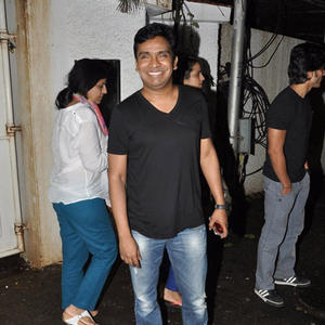Mushtaq Sheikh Flashes Smile During The Special Screening Of Entertainment Movie