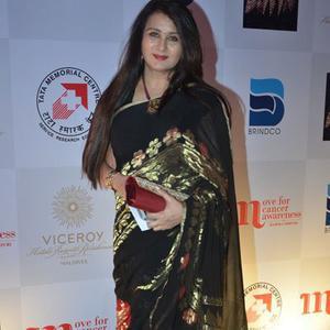 Poonam Dhillon Ravishing Look During Maheka Mirpuri Charity Fashion Show