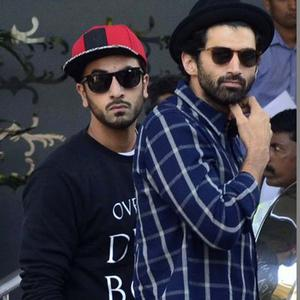 Ranbir Kapoor And Aditya Roy Kapur At The Opening Ceremony Of ISL Football Match 2014