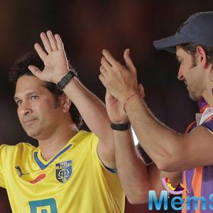 Sachin Tendulkar And Hrithik Roshan Enjoyed ISL Football Match