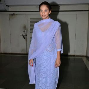 Neetu Chandra Spotted With Simple Look At Breast Cancer Awareness Programme