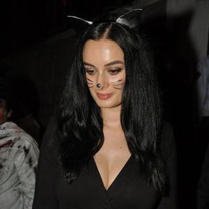 Evelyn Sharma Cute Cat Look At Nido Halloween Night Bash