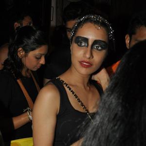 Shraddha Kapoor In Black Swan Dress At Nido Halloween Night Bash