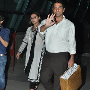 Rani Mukerji Spotted At Mumbai International Airport