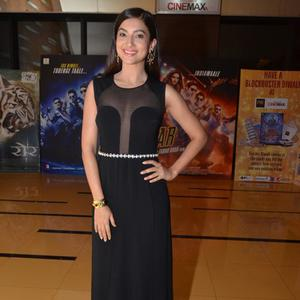 Gauhar Khan Strikes A Pose In Her Sheer Panelled Outfit During The Screening Of Rang Rasiya