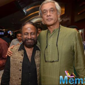 Ketan Mehta And Sudhir Mishra Posed During The Screening Of Rang Rasiya