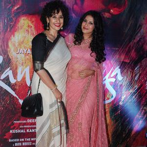Manisha Koirala And Nandana Sen Cool Pose During The Premiere Of Rang Rasiya