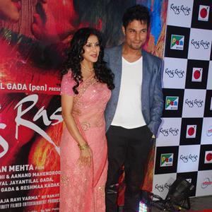 Nandana Sen Posed With Randeep Hooda During The Screening Of Rang Rasiya