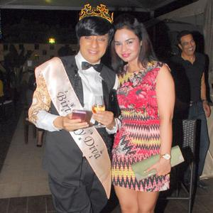 Rohit Verma And Kavitta Verma Posed For Camera During Designer Rohit Verma Birthday Bash