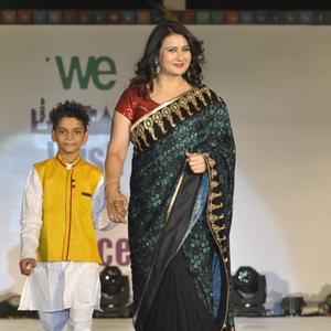 Poonam Dhillon Beautiful Look In Saree At The Global Peace Initiative 2014