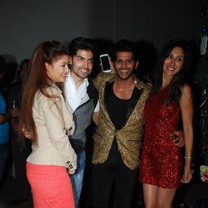 Debina Bonnerjee And Hubby Gurmeet Choudhary,Karanvir Bohra And Wife Teejay Sidhu Clicked At Karanveer Bohra House Warming Party