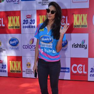 Lisa Haydon Glamour Look At CCL Red Carpet 2015