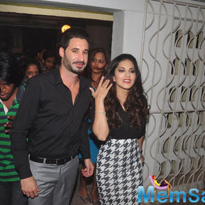 Daniel Weber And Wife Sunny Leone Arrived The Launching Event Of Mandate Magazine January Issue