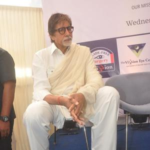 Amitabh Bachchan Graced During The Launch Of Eye Care Technology