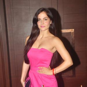 Elli Avram In Pink Color Strapless Dress Sexy Look During The Beti Bash 2015
