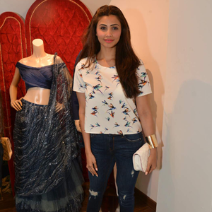 Daisy Shah Casual Simple Look During The Launch Of Avinash Punjabi Store